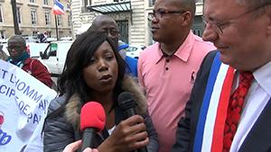Célestine Dabah et le député Jean-Paul Lecoq